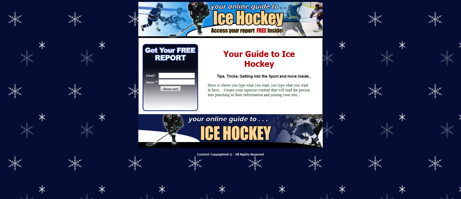 Ice Hockey Templates